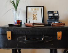 Restyled 1960s Suitcase Table